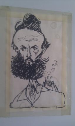 Fernando Costa, dibujado por un ex alumno.