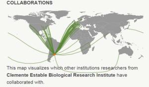 Colaboraciones de investigadores del IIBCE con otros investigadores del mundo